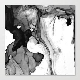 Soft Black Marble Canvas Print