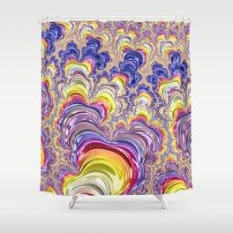 Flashy Fractal Shower Curtain