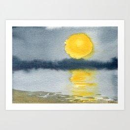Impossible Sunset Art Print