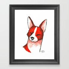 Brush Breeds-Basenji Framed Art Print