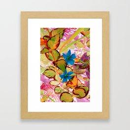 Blue Flower in the Fall - IA Framed Art Print