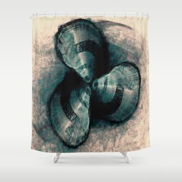 Shells in a row Shower Curtain