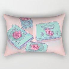 Flowers & Consoles Rectangular Pillow
