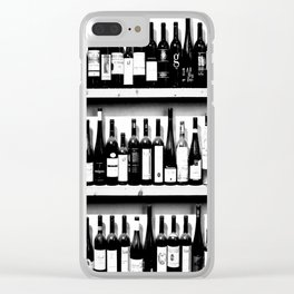 Wine Bottles in Black And White #society6 #decor Clear iPhone Case