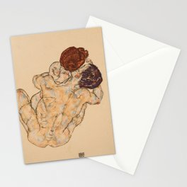 """Egon Schiele """"Mann und Frau, Umarmung"""" Stationery Cards"""