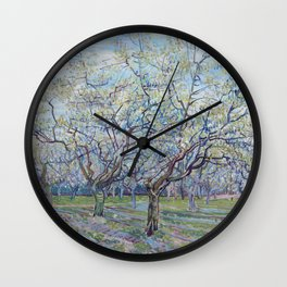 Vincent Van Gogh - Orchard with Blossoming Plum Trees Wall Clock