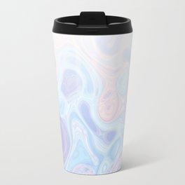 Liquid Pastel Marble Ombre 1. lilac, nude and aqua #pastelvibes #homedecor #buyart Travel Mug