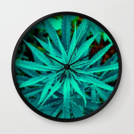 Twisted Frosty Weed Wall Clock