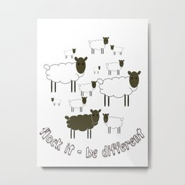 Flock It - Be Different Metal Print