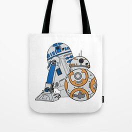 R2D2 and BB8 Tote Bag