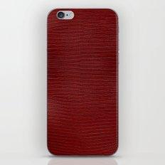 Red Lizard Leather Print iPhone & iPod Skin
