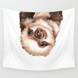 Baby Sloth Wall Tapestry