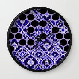 DECORATIVE  PURPLE & BLACK ABSTRACT ART Wall Clock