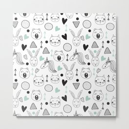 Pattern for childs Metal Print
