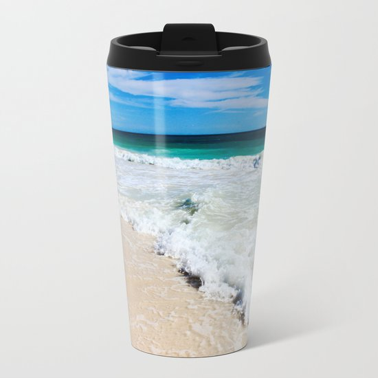 Tulum Waves Metal Travel Mug