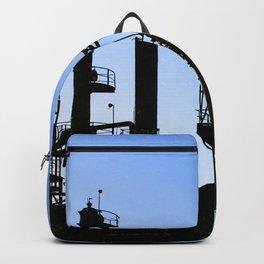 Silhouette Oil Refinery In Ventura Backpack