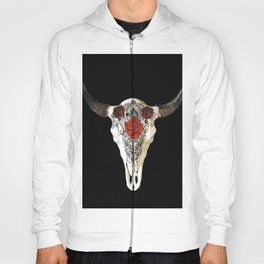Bull Skull and Roses Hoody