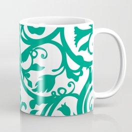 Green Floral Folk Art Coffee Mug