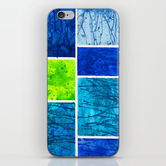 Blue Block iPhone & iPod Skin