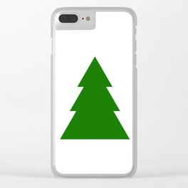Minimal Christmas Tree Clear iPhone Case