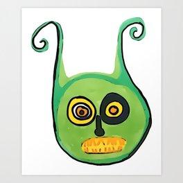 Greenie Meanie Art Print
