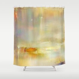 Mist on the Thames Shower Curtain