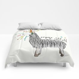 Anyone can be a unicorn...all you need is some creativity. Or a carrot if you're actually a llama. Comforters