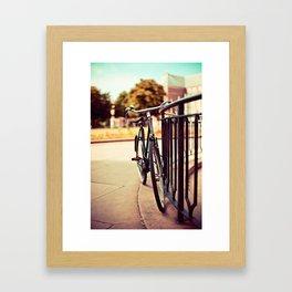 Old vintage style bike Framed Art Print