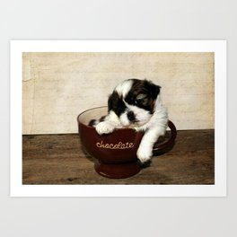 Cup of Puppy Art Print