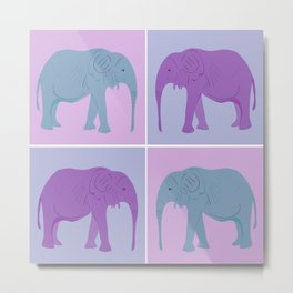 Elephant Pop Art  Metal Print