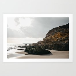 Glistening Portugal Beach Love | The Algarves, Portugal sunset fine art print  Art Print