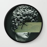 rothko Wall Clocks featuring Frau Rothko 2 by Marko Köppe