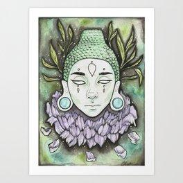 Serene Buddha Art Print