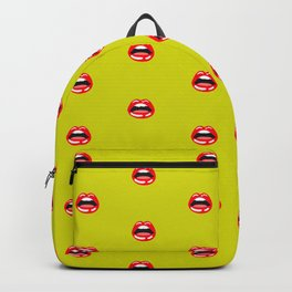 SEXY LIPS ((chartreuse)) Backpack