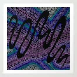 Trippy Circle Swirl - Abstract Art Art Print