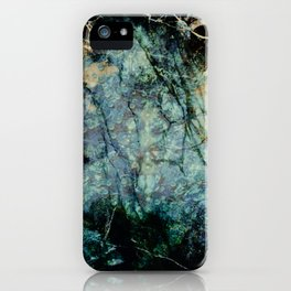 Marble ink abstract art iPhone Case