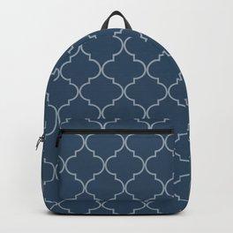 Sailor Blue Quatrefoil Backpack