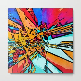 Pop Art Abstract Metal Print