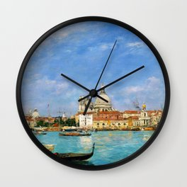 Venice, Santa Maria Della Salute From San Giorgio - Digital Remastered Edition Wall Clock