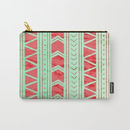 Watermelon Geometric Pattern Carry-All Pouch
