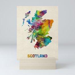Scotland Watercolor Map Mini Art Print