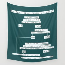 The Smiths Lyric Flowchart That Joke Isn't Funny Anymore Wall Tapestry