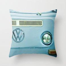 Summer of Love - Ocean Blue Throw Pillow
