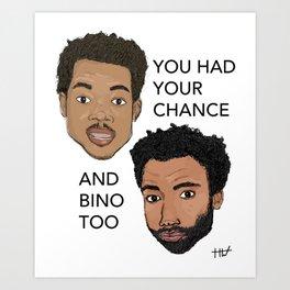 Chance and Gambino Art Print