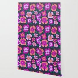 Summery Floral Garden Print Wallpaper