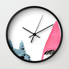 Red and Wolf are plotting new shenanigans! Wall Clock