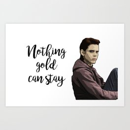 The Outsiders Ponyboy Curtis Art Print