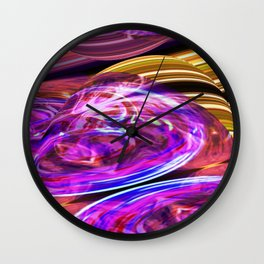 Eddies In The Etheric Variations On A Theme Wall Clock