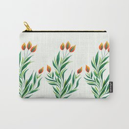 Abstract Green Plant With Orange Buds Carry-All Pouch