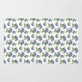 Watercolour blueberry pattern #s1 Rug